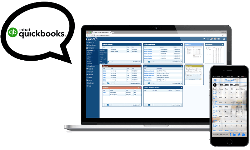 AMGtime and QuickBooks Integration