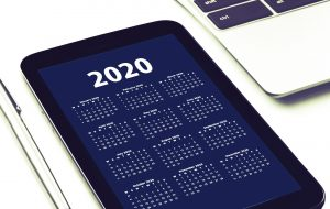 calendar to organize time and set business goals