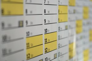calendar as an example of scheduling model