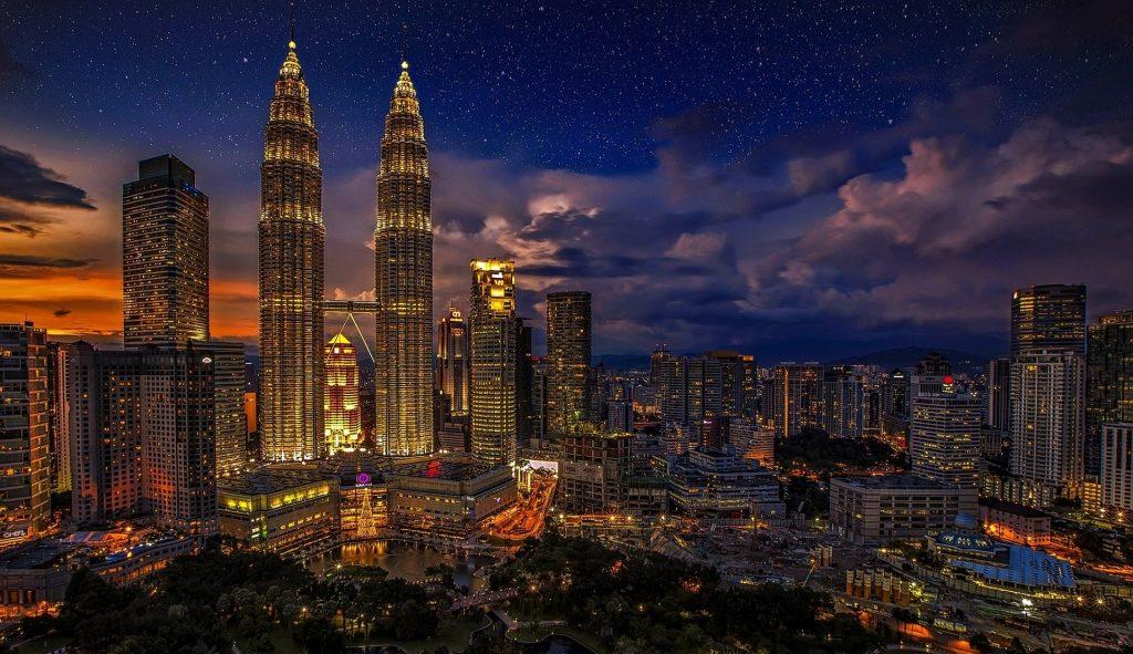 night with city lights