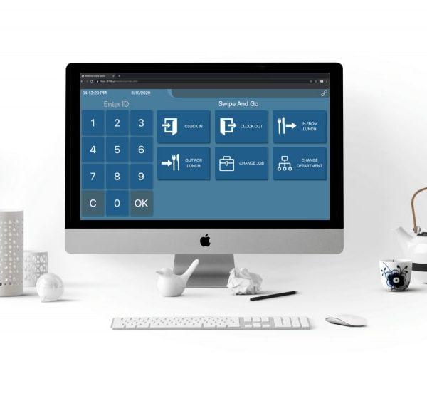 Virtual Elionic Kiosk on computer desktop