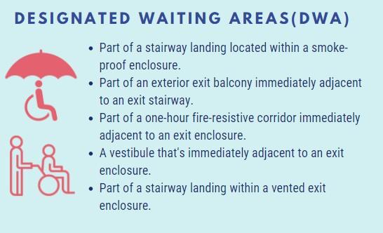 strategies to create designated waiting areas during evacuation