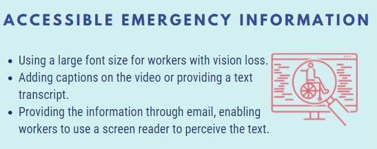 Accessible Emergency Information