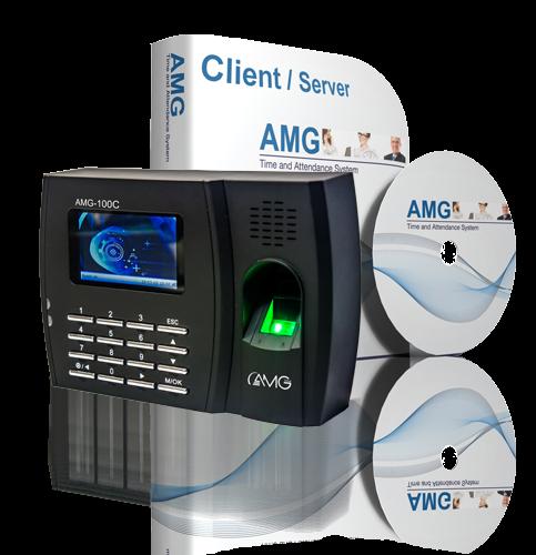 AMG 100C Fingerprint Time Attendance Package